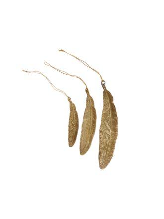 Feather 3-Piece Ornament Set