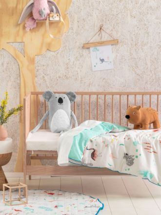 Aussie Friends Cot Quilt Cover