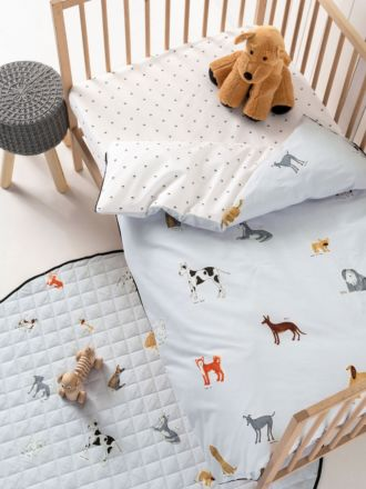Dogs For Days Cot Quilt Cover