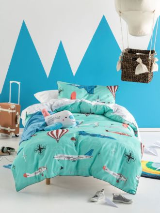 Fly With Me Quilt Cover Set