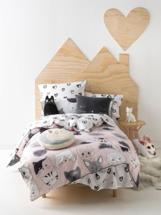 Kittycat Quilt Cover Set