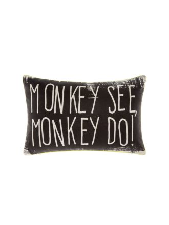 Monkey See Monkey Do Cushion 35x55cm