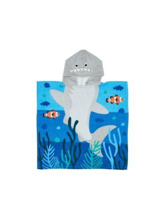 Sheldon Shark Hooded Beach Towel