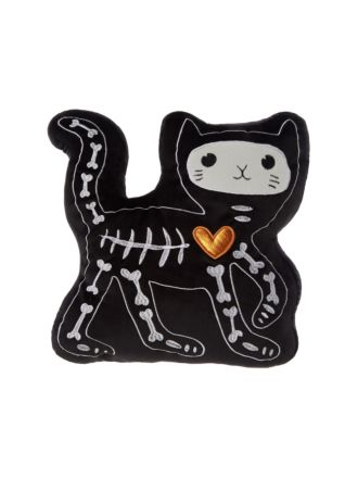 Skellie Kitty Novelty Cushion