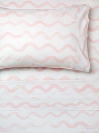 Squiggle Pink Sheet Set