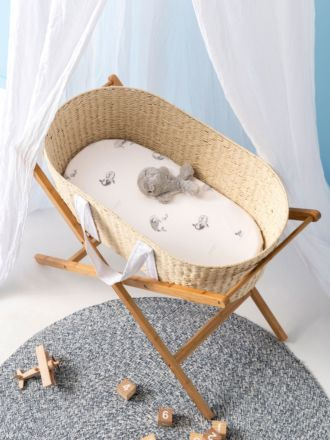 Whale Of A Time 2-Piece Bassinet Sheet Set