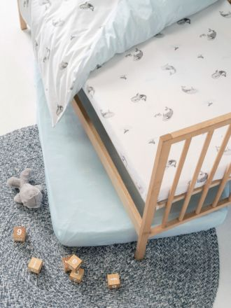 Whale Of A Time 2-Piece Cot Fitted Sheet Set