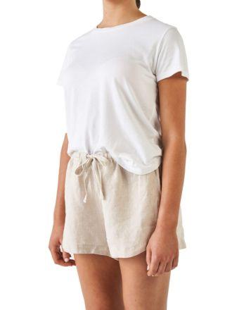 Nimes Natural Linen Shorts