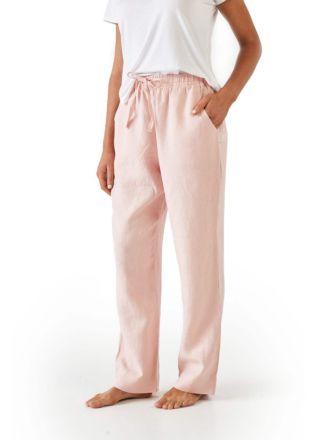 Nimes Rose Linen Pants