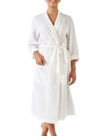 Nimes White Linen Robe