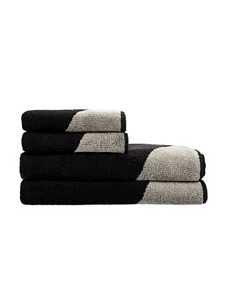 Splice Black Towel Collection