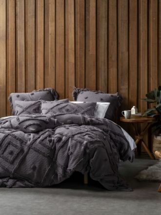 Adalyn Charcoal Quilt Cover Set
