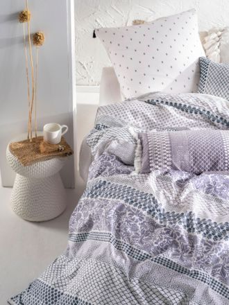 Anika Blue Quilt Cover Set