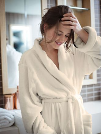 Super-Soft Cream Bath Robe