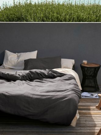 Nimes Magnet Linen Quilt Cover Set