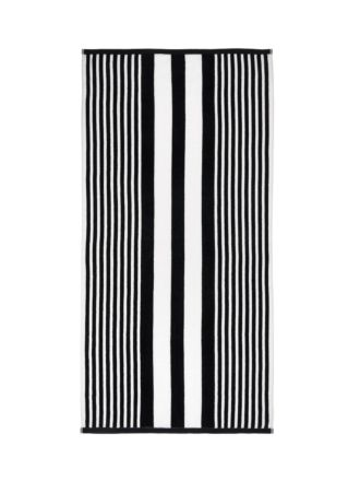 Cabana Stripe Black Beach Towel