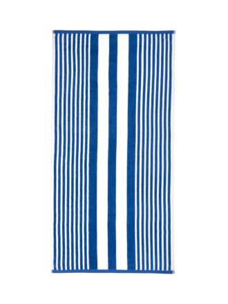 Cabana Stripe Blue Beach Towel