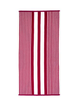 Cabana Stripe Red Beach Towel