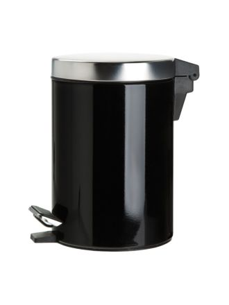 Stainless Steel Black Tidy Bin