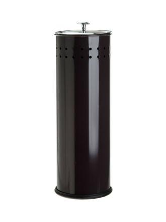 Coated Black Toilet Roll Holder