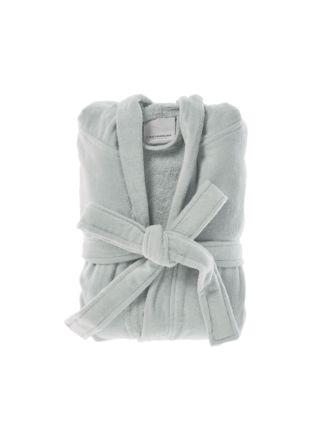 Cotton Velour Grey Robe