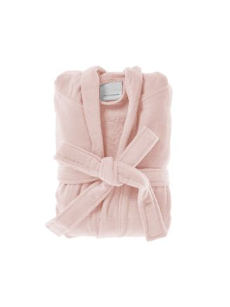 Cotton Velour Pink Robe