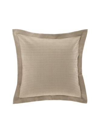 Deluxe Waffle Tan European Pillowcase