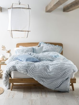 Drift Soft Blue Quilt Cover Set
