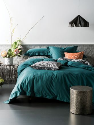 Elka Deep Teal Quilt Cover Set