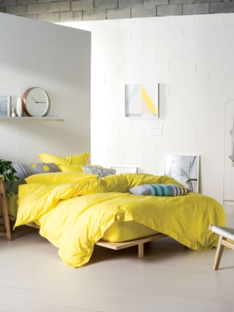 Elka Yellow Quilt Cover Set