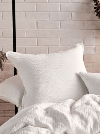 Elysian White European Pillowcase