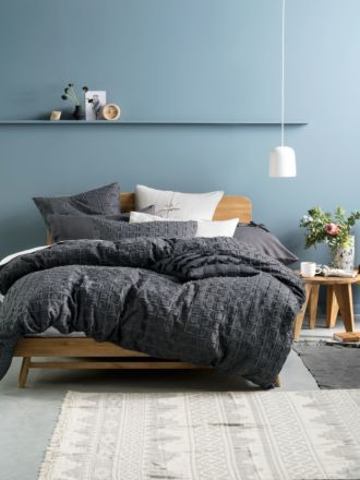 Fergus Charcoal Quilt Cover Set