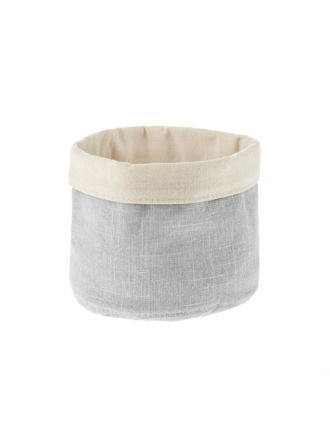 Frida Metallic Grey Storage Basket