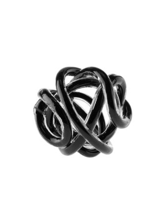 Glass Knots Black Décor 12cm