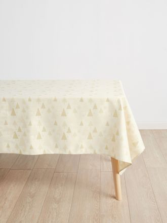 Glitter Trees Gold Tablecloth