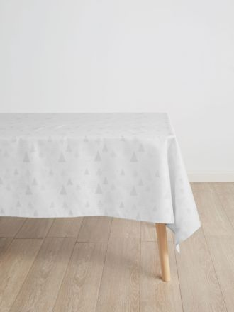 Glitter Trees Silver Tablecloth