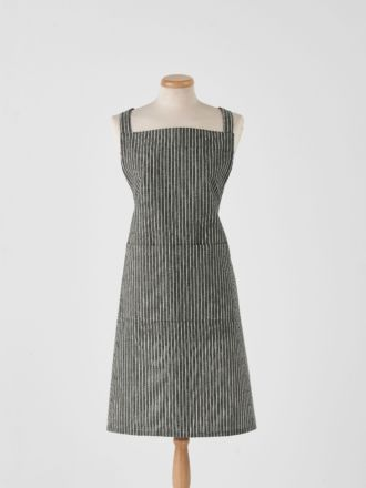 Grey Stripe Apron
