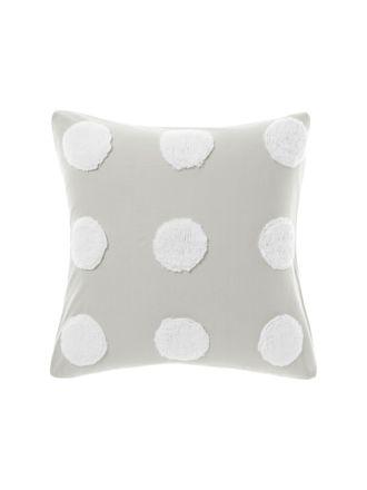 Haze Grey/White European Pillowcase
