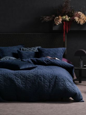 Heath Indigo Quilt Cover Set