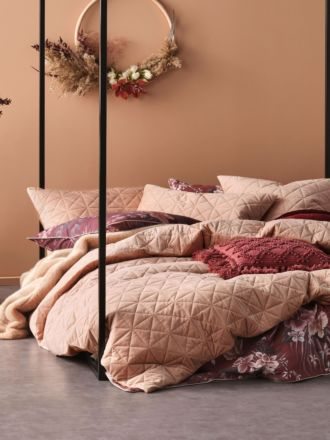 Heath Terracotta Quilt Cover Set