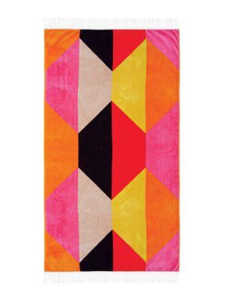 Hex Pink Beach Towel