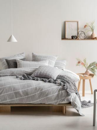 Leonard Grey Quilt Cover Set