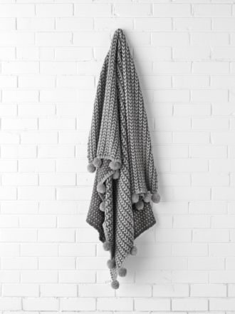 Loni Charcoal Throw