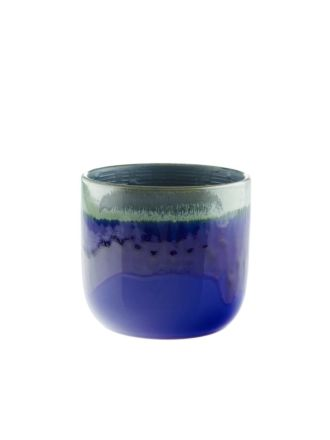 Luka Blue Planter Pot 15cm