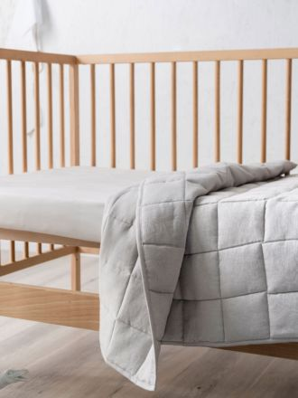 Maddison Grey Cot Coverlet