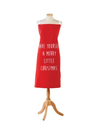 Merry Little Christmas Red Apron