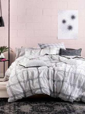 Mireya White Quilt Cover Set