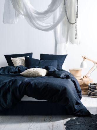 Nimes Indigo Linen Quilt Cover Set