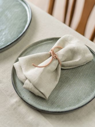 Nimes Natural Linen 4-Piece Napkin Set