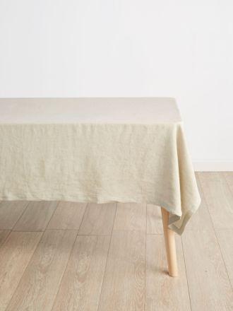 Nimes Natural Linen Tablecloth